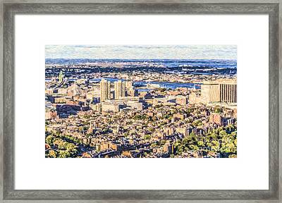 Boston Usa Elevated View Framed Print