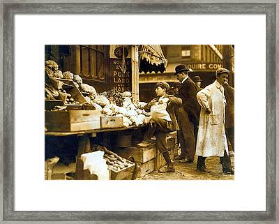 Boston Vegetable Seller 1909 Framed Print by Unknown