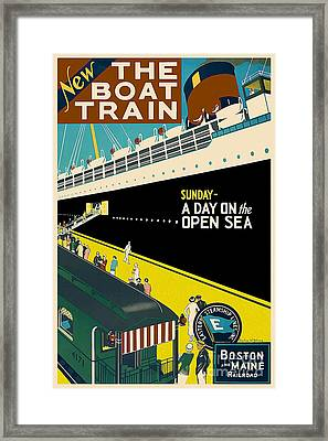 Boston Vintage Travel Poster Framed Print
