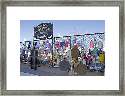 Boston Waterboat Marina Buoys  Framed Print by Betsy Knapp