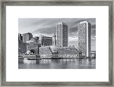 Boston Waterfront Skyline And Rowes Wharf II Framed Print