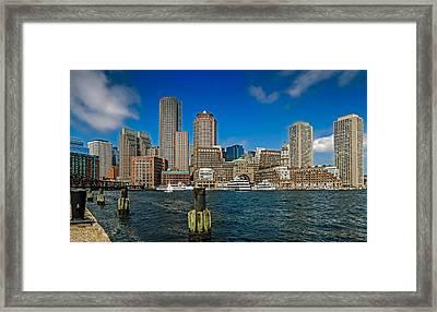 Boston Waterfront Skyline Framed Print