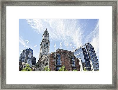 Boston You're My Home Framed Print