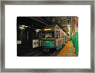 Boston's Mbta Green Line Framed Print