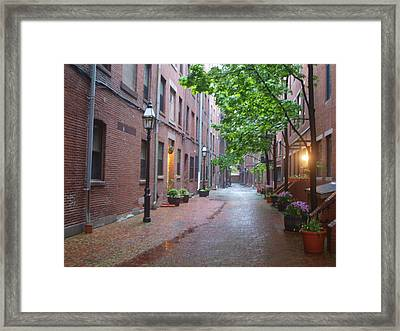 Bostons North End Framed Print
