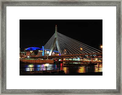 Framed Print featuring the photograph Boston's Zakim-bunker Hill Bridge by Mitchell R Grosky