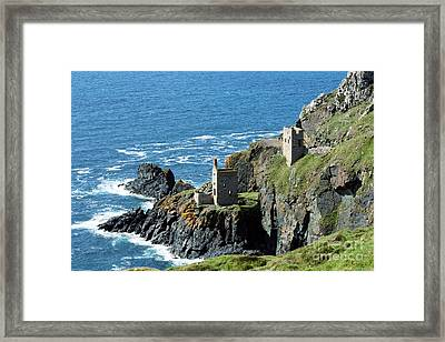 Botallack Crown Engine Houses Cornwall Framed Print