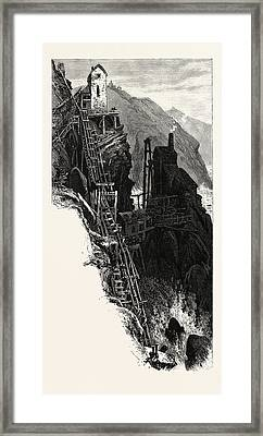 Botallack Mine, Uk, Britain, British, Europe Framed Print by English School