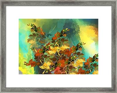 Framed Print featuring the digital art Botanical Fantasy 090914 by David Lane