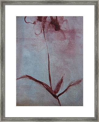 Framed Print featuring the painting Botanical Flowers by Jani Freimann