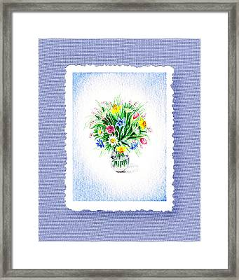 Botanical Impressionism The Burst Of Flowers  Framed Print