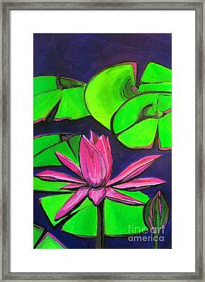 Botanical Lotus 1 Framed Print by Grace Liberator