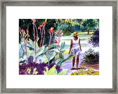 Botanical Stroll Framed Print by Barbara Jung