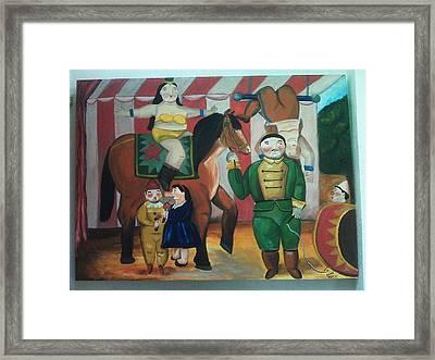 Botero Circus Framed Print by Vickie Meza