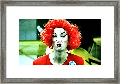 Both Eyes Blinking Means Trouble Higher Up Framed Print