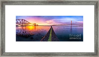 Both Forth Bridges Framed Print by John Farnan