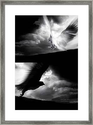 Both Sides Now Framed Print by Carol Cavalaris