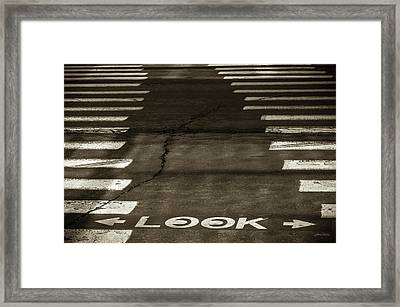 Both Ways - Urban Abstracts Framed Print