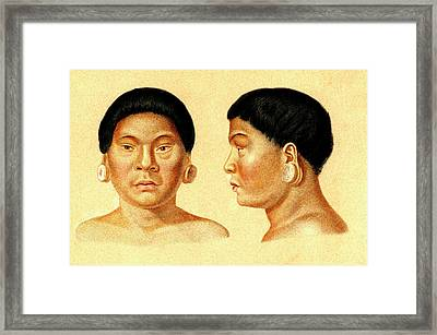 Botocudo Man Framed Print by Collection Abecasis