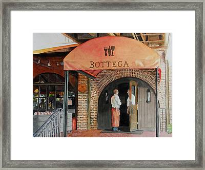 Framed Print featuring the painting Bottega by Gail Chandler