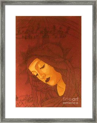 Botticelli Madonna In Sepia Framed Print