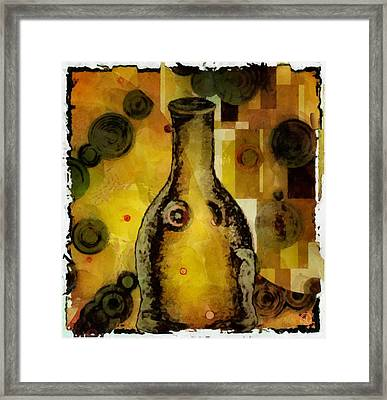 Bottle A La Klimt Framed Print