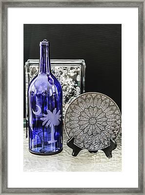 Bottle And Plate Framed Print