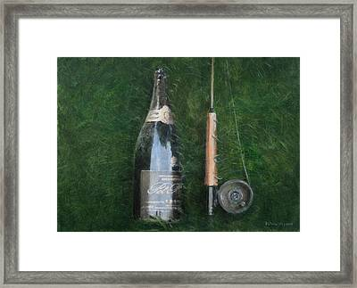 Bottle And Rob II, 2012 Acrylic On Canvas Framed Print
