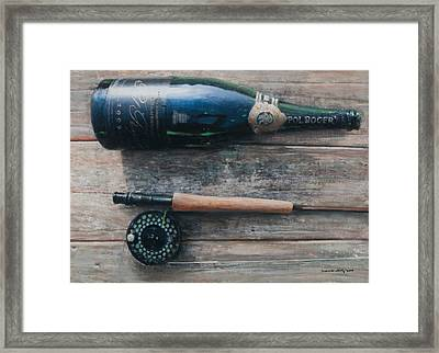 Bottle And Rod I Framed Print