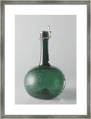 Bottle, Anonymous Framed Print by Quint Lox