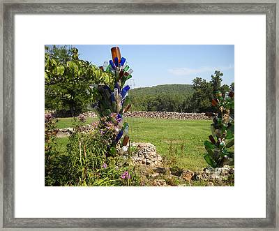 Framed Print featuring the photograph Bottle Bushes by Mark McReynolds