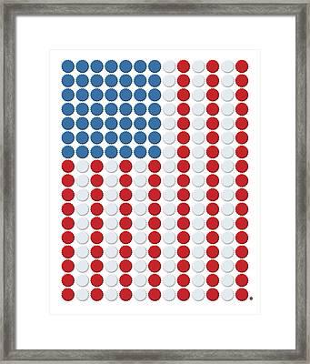 Bottle Cap Flag Framed Print by Gary Grayson
