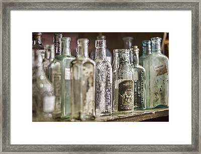 Bottle Collection Framed Print by Heather Applegate