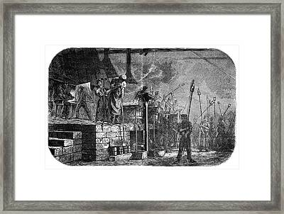 Bottle Factory Framed Print by Science Photo Library