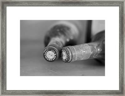 Bottle Necks In Black And White Framed Print by Georgia Fowler
