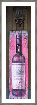 Bottle Of Cabernet 1865 Framed Print by Douglas Barnett