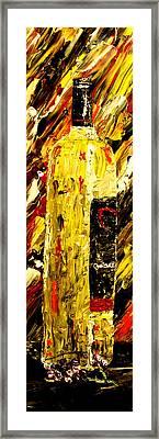 Bottle Of Wine  Framed Print by Mark Moore
