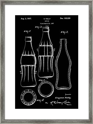 Bottle Patent Framed Print by Dan Sproul