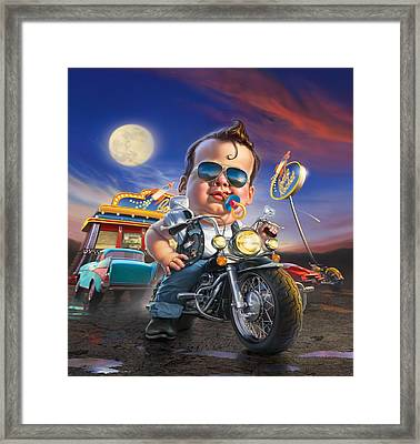 Bottle Rocket Diner Framed Print by Mark Fredrickson