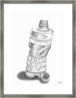 Bottle Sketch Framed Print by Conor O'Brien