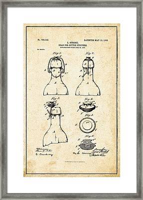 Bottle Stopper Patent Framed Print by Bill Cannon