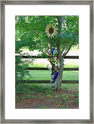 Bottle Tree Framed Print by Suzanne Gaff