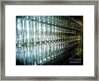 Bottle Wall Framed Print by Sara Graham