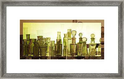 Framed Print featuring the photograph Bottled Light by Holly Kempe