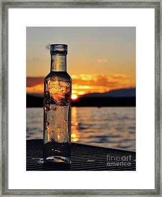 Bottled Sun Framed Print