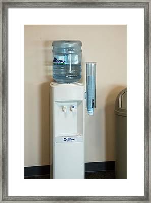 Bottled Water During Public Health Crisis Framed Print