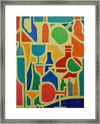 Bottles And Glasses 2 Framed Print by Ana Maria Edulescu