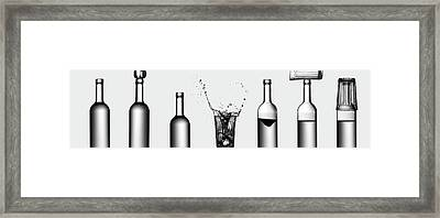 Bottles Game Framed Print