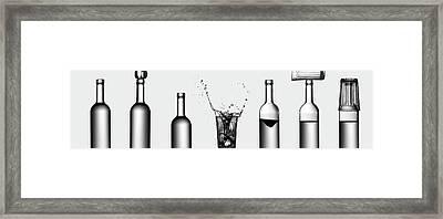 Bottles Game Framed Print
