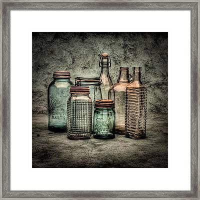 Bottles II Framed Print by Timothy Bischoff